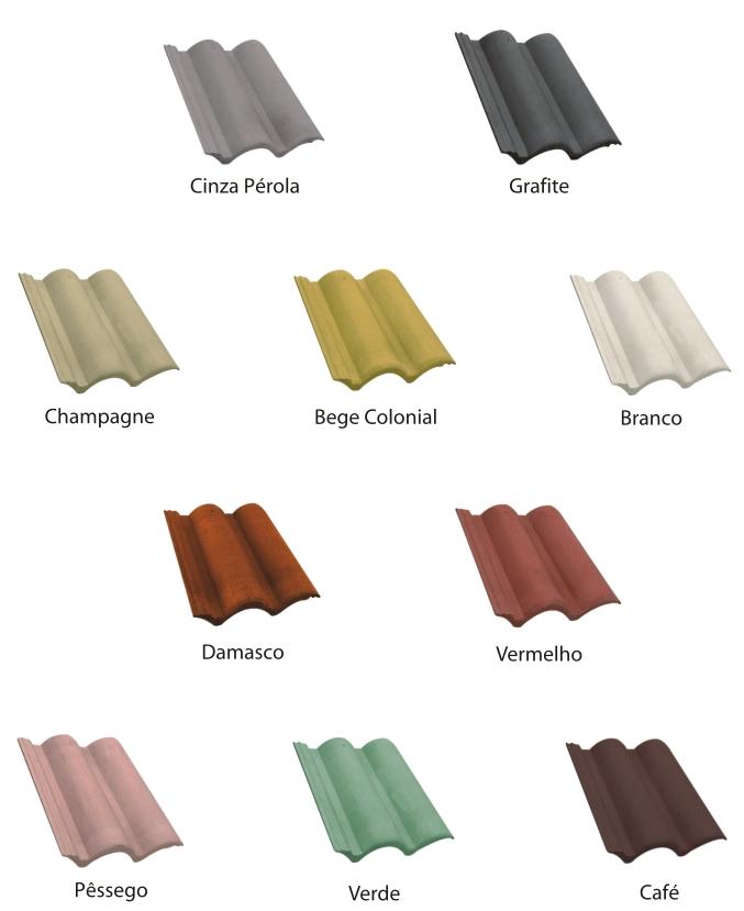 cores da telha de concreto